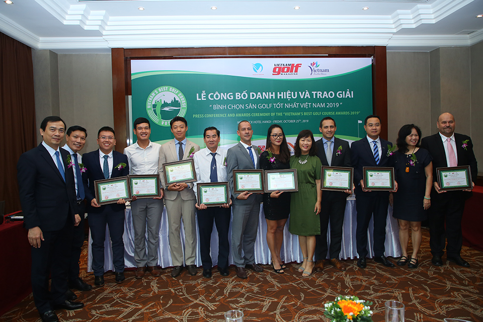 Top 10 announced at Vietnam's Best Golf Course Awards 2019